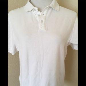 White polo shirt boys age 13-16 knit cotton polo